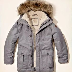 Hollister Coastal Trail Men's Parka - Grey NWT